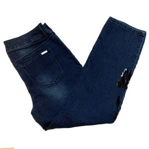 Chico's So Slimming jeans w/black sequins, 1.5